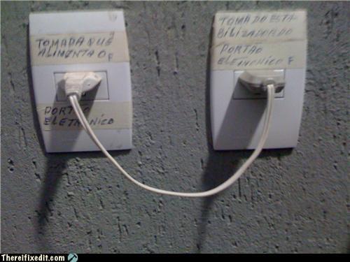 electrical hazard,Mission Improbable,plug,recursion,socket,wait wut