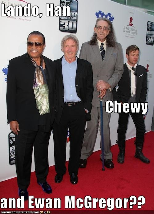 Lando, Han Chewy and Ewan McGregor??