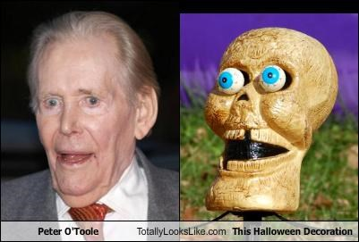 actor,decorations,halloween,old man,peter-otoole,skeleton