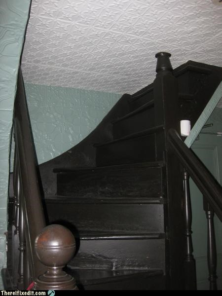 ceiling,dont-ask-questions,goes nowhere,Mission Improbable,spooky,stairs