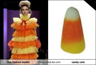 this fashion model Totally Looks Like candy corn