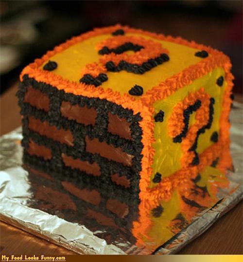 cake,mario,nintendo,question box,Super Mario bros,Sweet Treats