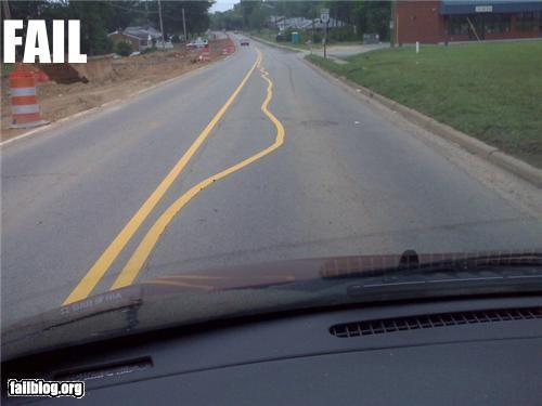 Road Painting Fail