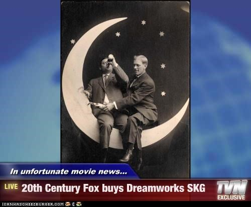 In unfortunate movie news... - 20th Century Fox buys Dreamworks SKG