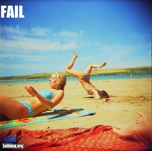 Beach Flip Fail