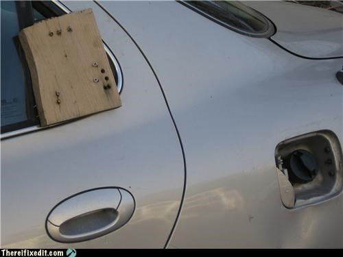 car,gas cap,not street legal,wooden block