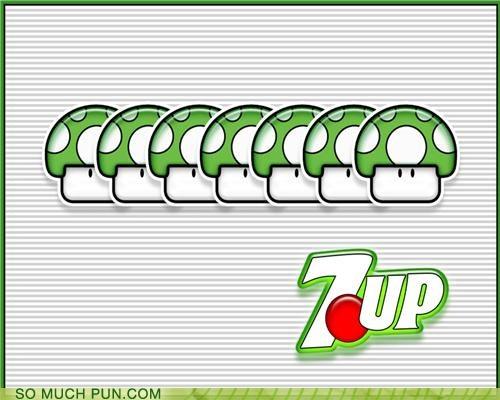 1up,mario,puns,refreshing,soda,video games