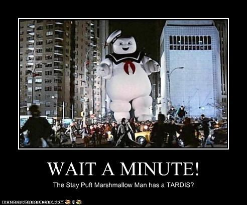 doctor who,Ghostbusters,movies,sci fi,stay puft marshmallow man,tardis