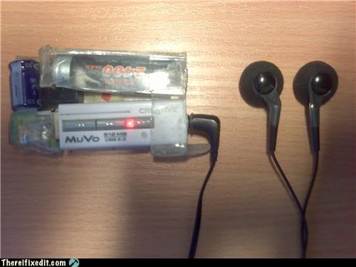 battery,extended life,headphones,Mission Improbable,mp3 player