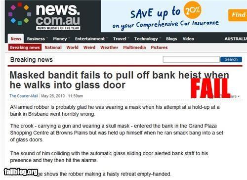 Bank Robbery Fail