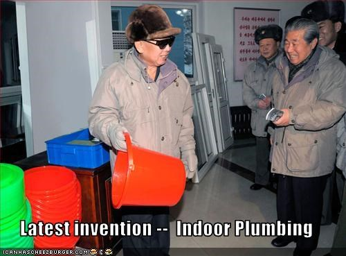 bathroom,bukkit,dictator,Kim Jong-Il,North Korea,plumbing