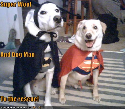Super Woof And Dog Man To the rescue!