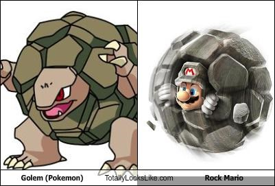 Golem (Pokemon) Totally Looks Like Rock Mario