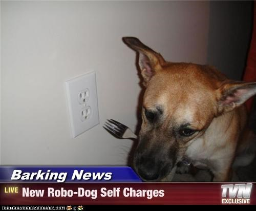 Barking News  - New Robo-Dog Self Charges