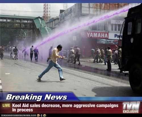 Breaking News - Kool Aid sales decrease, more aggressive campaigns in process