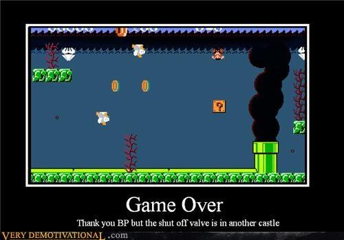 bp,damn,game over,Hall of Fame,mario,oil spill,Sad,Terrifying,Videogames