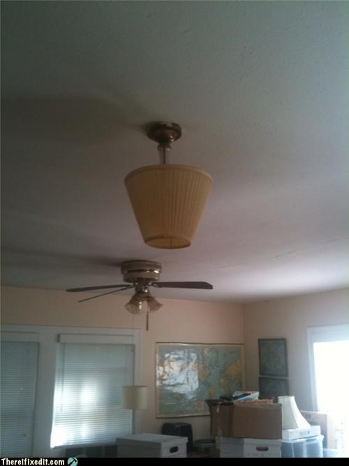 ceiling,lampshade,light bulb,not where that goes,recycling-is-good-right