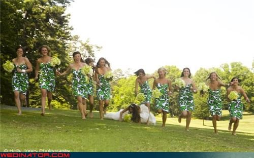 accident,army,bad idea,bride on the ground,bridesmaids,Crazy Brides,fashion is my passion,miscellaneous-oops,put some ice on it,running toward camera,technical difficulties,wedding party,wedding photography trend