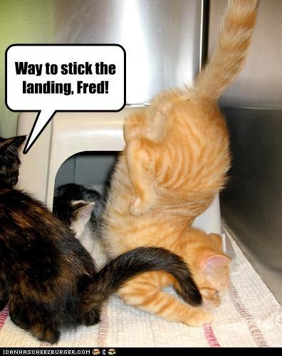 Way to stick the landing, Fred!