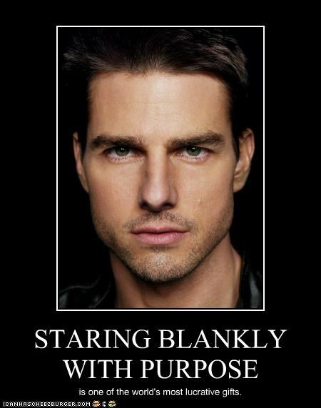 STARING BLANKLY WITH PURPOSE