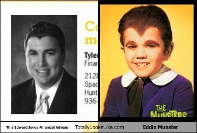 This Edward Jones Financial Advisor Totally Looks Like Eddie Munster