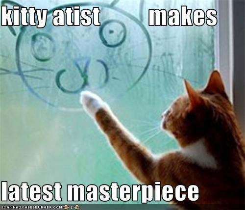 kitty atist          makes  latest masterpiece