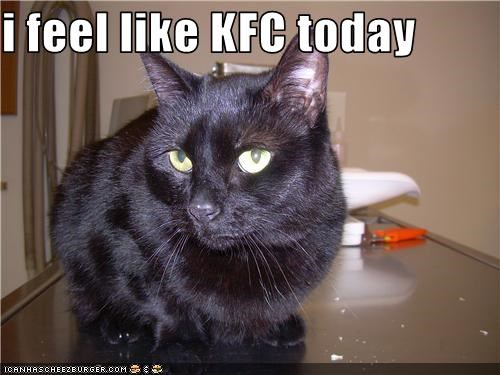 i feel like KFC today