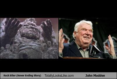 Rock Biter (Never Ending Story) Totally Looks Like John Madden