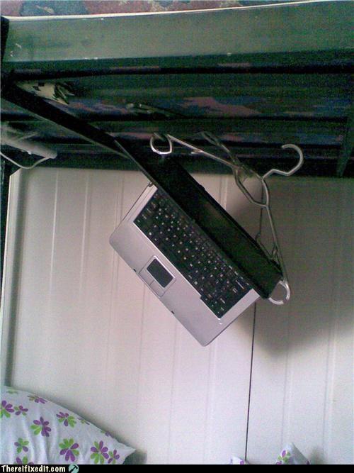 coat hanger,college,dorm,hanging,laptop