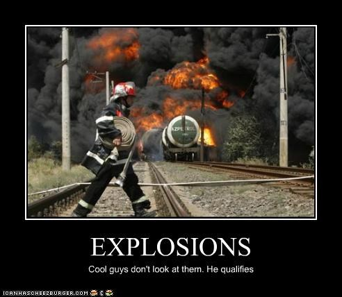 cool,explosions,fire,firefighters,train