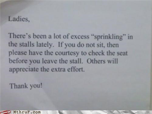 If You Sprinkle When You Tinkle...