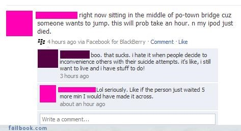 dick move,insensitive moments,really,suicide