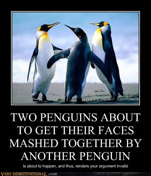 Two penguins
