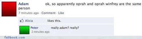 How Many Oprah's Does Adam Think Are Out There?