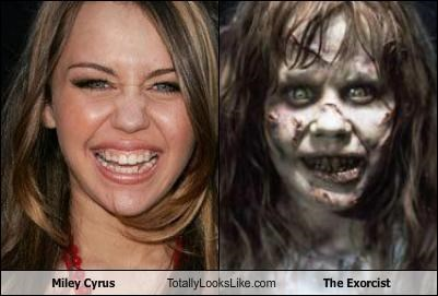 horror,linda blair,makeup,miley cyrus,movies,musician,singers,the exorcist