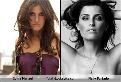 Idina Menzel Totally Looks Like Nelly Furtado