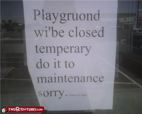 They spelled maintenance right...