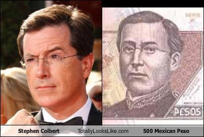 Stephen Colbert Totally Looks Like 500 Mexican Peso