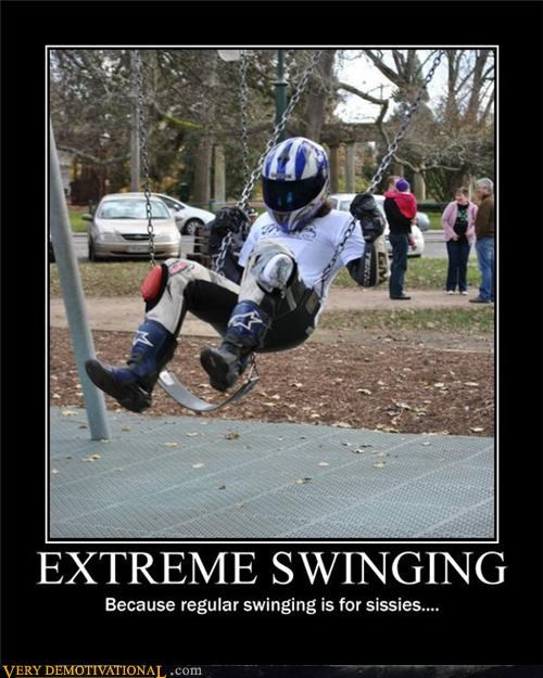 extreme sports,hilarious,parks,partying,sissies,swinging,the stig