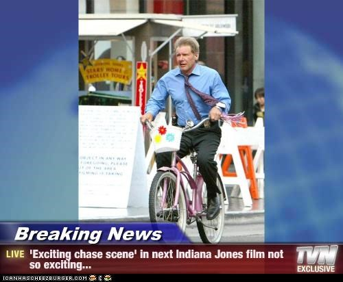 Breaking News - 'Exciting chase scene' in next Indiana Jones film not so exciting...
