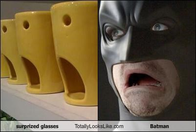 surprized glasses  Totally Looks Like Batman