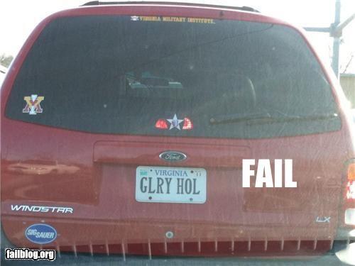 failboat,glory hole,innuendo,license plate
