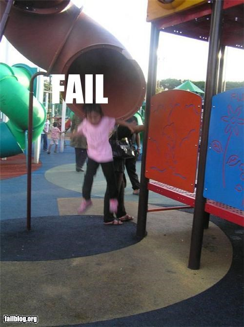 bad idea,failboat,fall,kids,slide