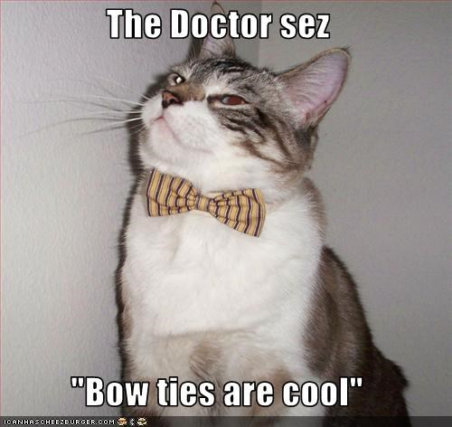 """The Doctor sez  """"Bow ties are cool"""""""