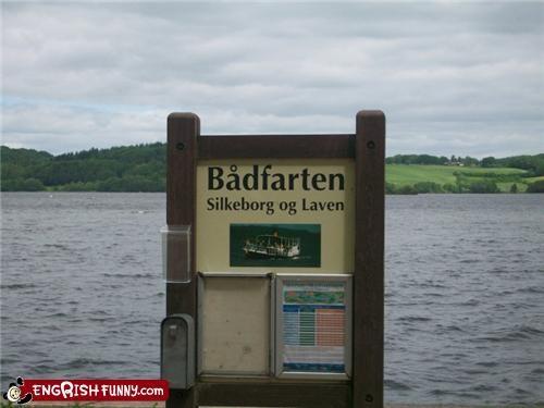 fart,lake,sign