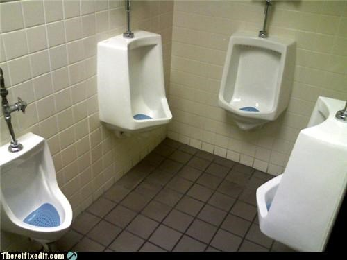 design flaw,personal space,Professional At Work,public bathroom,urinal