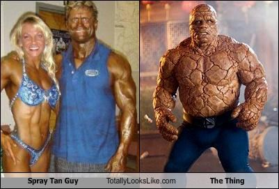 comic books,fake tan,guy,movies,spray tan guy,The Thing