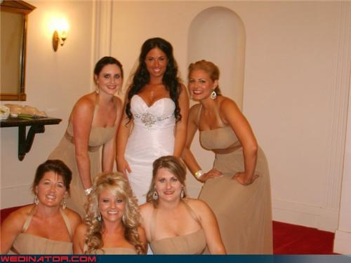 bridal party,bridesmaids,bronzer,Crazy Brides,eww,fake tan,fashion is my passion,orange,tacky,tanning bed,wedding party,wtf