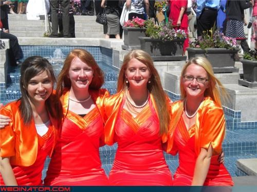 Bridesmaids Dresses Literally from Hell