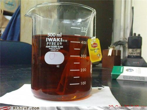 450 ml of tea,500 ml,awesome,beaker,beverage,boredom,bring on the metric system damn,clever,creativity in the workplace,cubicle boredom,drink,glass,graduated cylinder,gross,hardware,hot tea,ingenuity,lazy,lipton,piss,Pyrex,rambling,science,tea,tea bag,tea service,thirsty,urine,urine test,wiseass,work smarter not harder